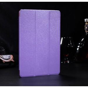 Сегментарный чехол книжка подставка текстура Золото на полупрозрачной поликарбонатной основе для IPad Pro 11  Фиолетовый