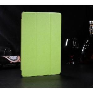 Сегментарный чехол книжка подставка текстура Золото на полупрозрачной поликарбонатной основе для IPad Pro 11  Зеленый