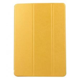 Сегментарный чехол книжка подставка текстура Золото на полупрозрачной поликарбонатной основе для IPad Pro 12.9 (2018)  Желтый