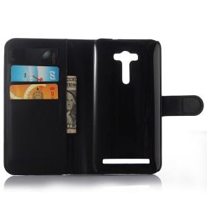 Чехол портмоне подставка на силиконовой основе с магнитной защелкой для ASUS Zenfone 2 Laser 5 ZE500KL Черный