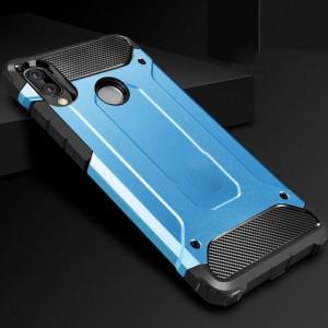 Противоударный двухкомпонентный силиконовый матовый непрозрачный чехол с поликарбонатными вставками экстрим защиты для Huawei Honor 8X Синий