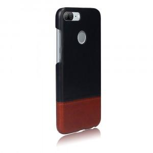 Чехол накладка текстурная отделка Кожа для Huawei Honor 9 Lite Черный