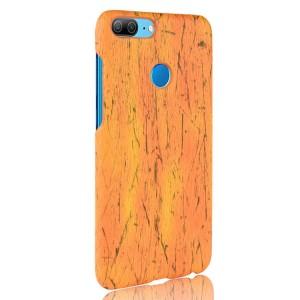Чехол накладка текстурная отделка Дерево для Huawei Honor 9 Lite  Оранжевый