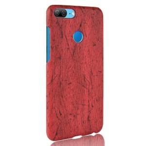 Чехол накладка текстурная отделка Дерево для Huawei Honor 9 Lite  Красный