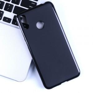 Силиконовый матовый непрозрачный чехол для ASUS ZenFone Max Pro M2  Черный