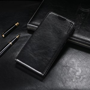 Глянцевый водоотталкивающий чехол вертикальная книжка на силиконовой основе на магнитной защелке для ASUS ZenFone Max Pro M2 Черный