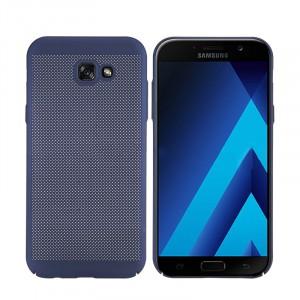 Пластиковый непрозрачный матовый чехол с улучшенной защитой элементов корпуса с текстурой Точки для Samsung Galaxy A5 (2017) Синий