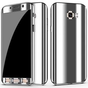 Двухкомпонентный сборный пластиковый глянцевый чехол для Samsung Galaxy A5 (2017) Белый