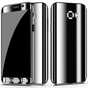 Двухкомпонентный сборный пластиковый глянцевый чехол для Samsung Galaxy A5 (2017) Черный