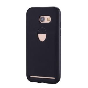 Силиконовый матовый непрозрачный чехол с отсеком для карт для Samsung Galaxy A5 (2017) Черный