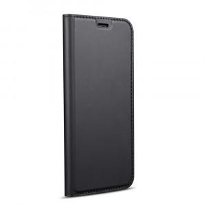 Чехол горизонтальная книжка подставка на силиконовой основе с отсеком для карт для Xiaomi RedMi 4X Черный