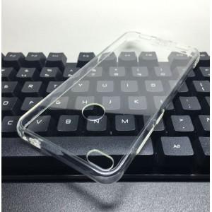 Cиликоновый глянцевый транспарентный чехол с поликарбонатными вставками для Huawei Honor 8 Lite