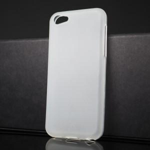 Силиконовый матовый полупрозрачный чехол для Iphone 5c Белый