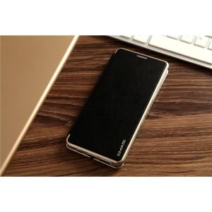 Чехол горизонтальная книжка подставка на силиконовой основе с отсеком для карт для Samsung Galaxy S8 Черный