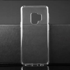 Силиконовый глянцевый транспарентный чехол для Samsung Galaxy S9
