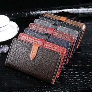 Чехол портмоне подставка текстура Крокодил на силиконовой основе с отсеком для карт на магнитной защелке для ASUS ZenFone Max