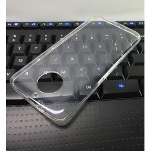 Силиконовый глянцевый транспарентный чехол для Motorola Moto G5s