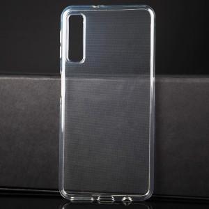 Силиконовый глянцевый транспарентный чехол для Samsung Galaxy A7 (2018)
