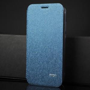 Чехол горизонтальная книжка подставка текстура Соты на силиконовой основе для Huawei Honor 8X Синий