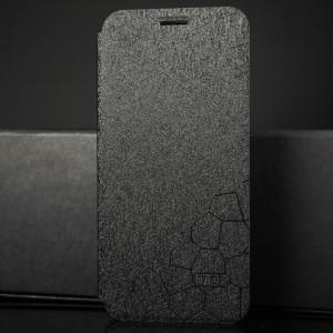 Чехол горизонтальная книжка подставка текстура Соты на силиконовой основе для Huawei Honor 8X Черный