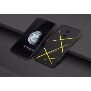 Силиконовый матовый непрозрачный чехол с текстурным покрытием Линии для Xiaomi RedMi Note 4X Желтый