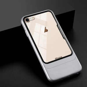 Двухкомпонентный сборный пластиковый матовый чехол на магнитных креплениях для Iphone 6/6s Белый
