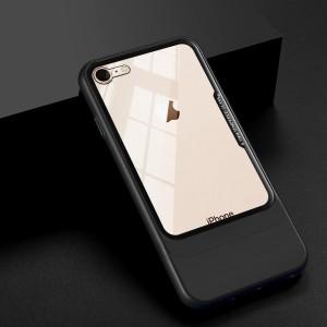 Двухкомпонентный сборный пластиковый матовый чехол на магнитных креплениях для Iphone 6/6s Черный