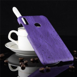 Пластиковый непрозрачный матовый чехол с текстурным покрытием Дерево для ASUS ZenFone Max Pro M2  Фиолетовый