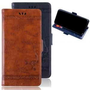 Чехол портмоне подставка текстура Узоры на силиконовой основе с отсеком для карт на магнитной защелке для ASUS ZenFone Max Pro M2