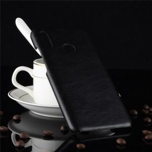 Чехол накладка текстурная отделка Кожа для Huawei P Smart 2019/Honor 10 Lite Черный