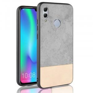 Силиконовый матовый непрозрачный чехол с текстурным покрытием Замша для Huawei P Smart 2019/Honor 10 Lite Серый