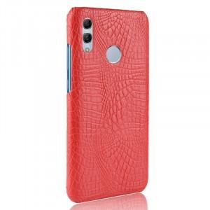 Пластиковый непрозрачный матовый чехол с текстурным покрытием Крокодил для Huawei P Smart 2019/Honor 10 Lite Красный