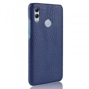 Пластиковый непрозрачный матовый чехол с текстурным покрытием Крокодил для Huawei P Smart 2019/Honor 10 Lite Синий