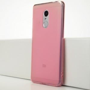 Силиконовый матовый полупрозрачный чехол для Xiaomi RedMi Note 4X Розовый