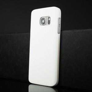 Пластиковый матовый непрозрачный чехол для Samsung Galaxy S7 Белый