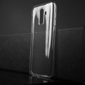 Силиконовый глянцевый транспарентный чехол для Samsung Galaxy J8