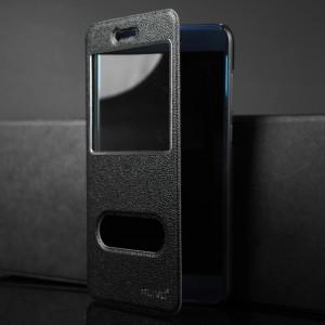Чехол горизонтальная книжка подставка текстура Узоры на пластиковой основе с окном вызова и полоcой свайпа для Huawei Honor 8 Lite