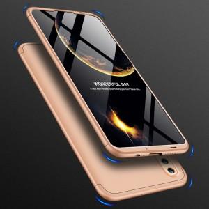 Двухкомпонентный сборный пластиковый матовый чехол для Huawei Honor 10 Lite Бежевый
