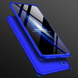 Двухкомпонентный сборный пластиковый матовый чехол для Huawei Honor 10 Lite Синий