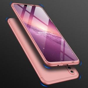 Двухкомпонентный сборный пластиковый матовый чехол для Huawei Honor 10 Lite Розовый