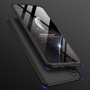 Двухкомпонентный сборный пластиковый матовый чехол для Huawei Honor 10 Lite Черный