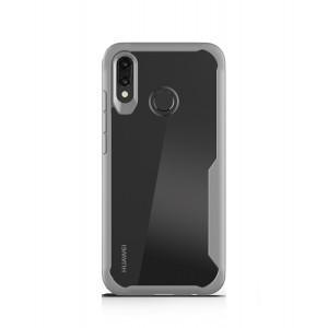 Силиконовый матовый непрозрачный чехол с транспарентной поликарбонатной накладкой для Huawei P Smart 2019/Honor 10 Lite Серый