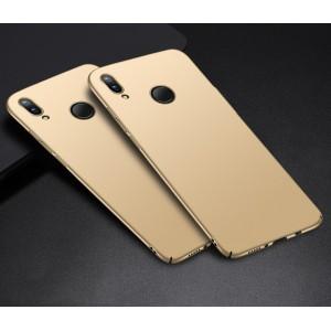 Пластиковый непрозрачный матовый чехол с улучшенной защитой элементов корпуса для Huawei P Smart 2019/Honor 10 Lite Бежевый