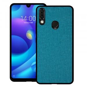 Силиконовый матовый непрозрачный чехол с текстурным покрытием Ткань для Huawei P Smart 2019/Honor 10 Lite Голубой