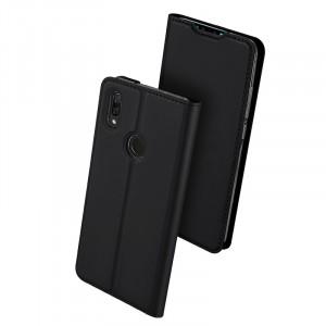 Чехол горизонтальная книжка подставка текстура Золото на силиконовой основе с отсеком для карт для Huawei P Smart 2019/Honor 10 Lite Черный