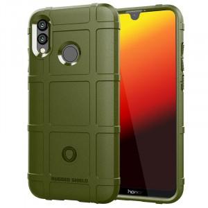 Силиконовый матовый непрозрачный чехол с текстурным покрытием Клетка для Huawei P Smart 2019/Honor 10 Lite Зеленый