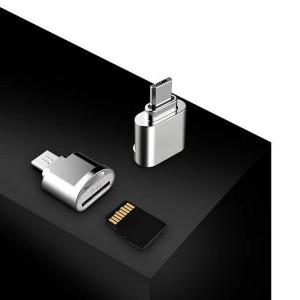 Наноадаптер-брелок MicroUSB для карт памяти MicroSD