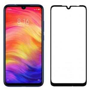 Полноэкранное ультратонкое износоустойчивое сколостойкое олеофобное защитное стекло-пленка для Xiaomi RedMi Note 7 Черный