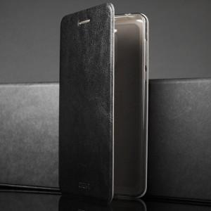 Чехол горизонтальная книжка подставка на силиконовой основе для Nokia 6 Черный