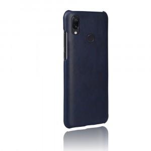 Чехол накладка текстурная отделка Кожа для Xiaomi RedMi Note 7  Синий